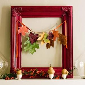Dekorace laďte do podzimních barev.