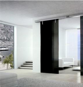 Interiérové posuvné dveře působí luxusním dojmem /