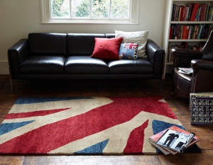 Koberec s motivem britské vlajky