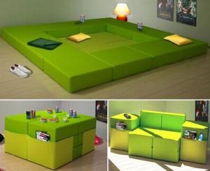 Modulový nábytek je hezký a praktický