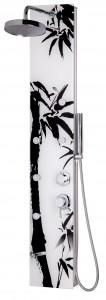 Masážní sprchový panel black and white si jistě oblíbíte /